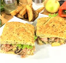 Sandwiches mediterráneo con atún
