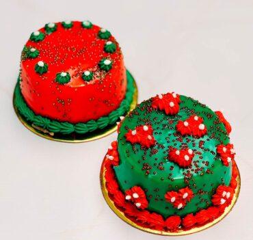 torta de chocolate motivo navideño